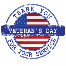 Veterans Day - 2017 - Thank you for your service