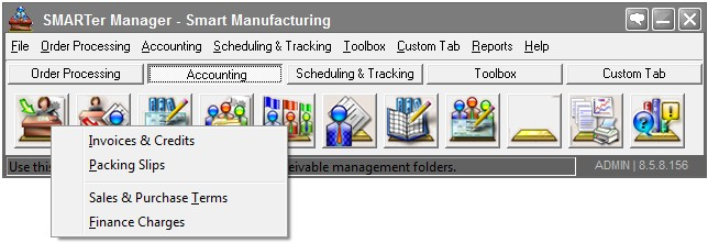 Accounts Receivable software for manufacturing